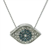Evil Eye Cubic Zirconia Sparkling Pendant Protective Necklace Dainty Jewelry