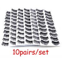 Makeup Natural Soft Hair Thick Long Wispy False Eyelashes Eye Lashes Extension