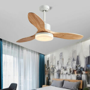 48'' Ceiling Fan With Light LED Remote Control Fans 3 Blades 5 Speeds
