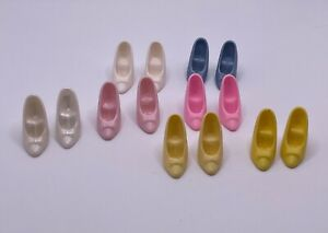Barbie Doll Shoes High Heel Stiletto - Bow on Toes - Choose White Yellow Pink