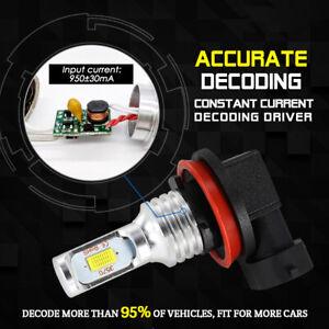 Premium 6000K White 35W H11 H8 H9 H16 CREE LED Fog Lights Bulbs Conversion Kit