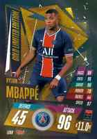 2020/21 Match Attax UEFA Champions League - Kylian Mbappe Gold Limited LE8G