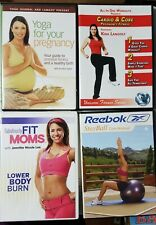 Lot of 4 Cardio & Yoga Pregnancy, Fit Moms, Stay Ball Exercise Workout - DVD