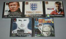 5 x Football games bundle - PS1 - Adidas Power Soccer WLS 99 Three Lions Beckham