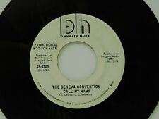 The Geneva Convention rock 45 Call My Name bw Something Beautiful Beverly Hills