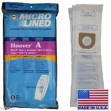 HOOVER A Upright Vacuum Bags Microlined Bissell Style 2 Kenmore 5037 50378 (3pk)