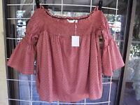 """New LC Lauren Conrad Desert Dreamer Off The Shoulder Shirt Sz. XXL  46"""" Bust"""