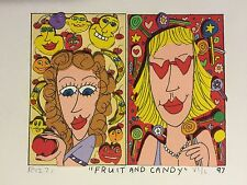 "James Rizzi: Original 3d, ""Fruit and Candy,"" Funny Faces, Hand Signed, 1997"