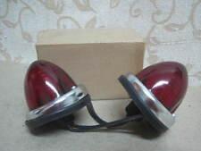 2 NOS CLASSIC MINI MG LOTUS Mk1 Mk2 Mk3 KIT CAR RED SIDE LAMPS GLASS LENS