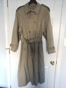 Vintage Womens Aquascutum Aqua5 Trench Coat Size 8 Beige Tan