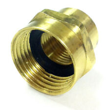 "3/4"" Female GHT x 1/2"" Female NPT Brass Hex Garden Hose Bibb Adapter with Washer"