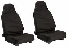 FORD FIESTA VAN (11+) WATERPROOF BLACK VAN SEAT COVERS 2 SINGLE 1+1