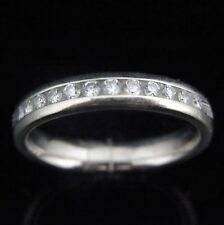 Vintage Diamond Eternity Band 14k White Gold Wedding Anniversary Estate Jewelry