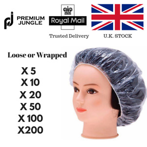 Disposable Shower Caps Bathing Elastic Clear Hair Care UK