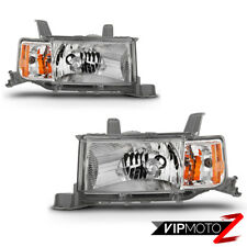 {FACTORY STYLE} Chrome Headlights Lamps Pair Replacement For 2004-2006 Scion xB
