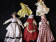 VTG 5 PC Lot of  Hand Made Lot Creepy Cloth Unfinished Dolls Need TLC