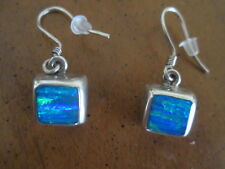 TAXCO 925 sterling BLUE OPAL EARRINGS pierced