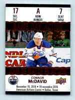 2017-18 Upper Deck Tim Hortons Game Day Action Connor McDavid ! #GDA-7
