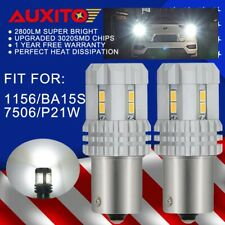 2x AUXITO 1156 6000K 7506 P21W BA15S LED Bulbs Backup Reverse Light For EURO Car