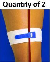 Package of 2 Catheter Leg Strap Band Catheters Foley Holder Strap Bag Tube Loop