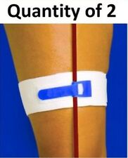 "Package of 2 Catheter Leg Strap 2"" Wide Catheters Foley Holder Strap Bag Tube"