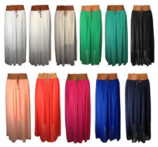 Full Length Chiffon Casual Maxi Skirts for Women