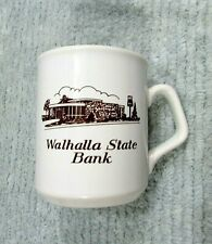 1934-1984 Walhalla ND State Bank 50th England Stoneware Coffee Mug Cup FREE S/H
