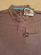"BNWT Airwalk Polo Camisa 🌍 Tamaño XXL (46"") 🌍 100% algodón 🌍 Gris 🌍 RRP £ 23."