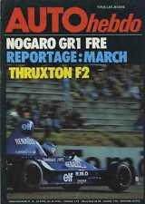AUTO HEBDO n°10 du 22  Avril 1976 DANS LES COULISSES MARCH THRUXTON F2