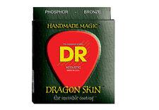 DR Dragon dsa-11 bronzo al fosforo SKIN rivestito le corde per chitarra acustica 11-50