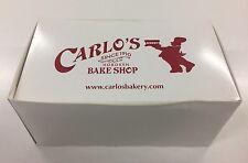 'CAKE BOSS' CARLO'S BAKERY EMPTY CARDBOARD CAKE BOX DIRECT FROM HOBOKEN NEW YORK