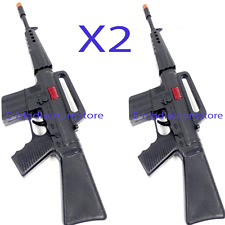 2Plastic Machine Gun Rifle Toy as Military Army Soldier Gun Automatic Fire Sound