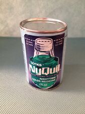 Vintage NyQuil medicine bottle Sample Vicks Old Advertising