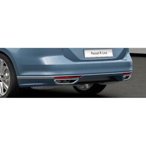 VW Passat B8 3G R-Line retrofit rear spoiler diffuser insert