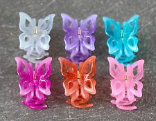 6 Pcs Women Pastel Color Butterfly Hair Claw Clip Jaw Clamp Accessory US SELLER