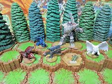 Heroscape Golem and the Wyrmlings plus Glyph from Wave 12/D2 Warriors of Eberron