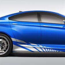 2x Streifen 170cm Seitenaufkleber Dekor Auto Aufkleber Karosserie JDM Tuning S17