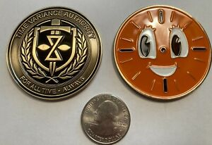 Marvel Loki Time Variance Authority 2 inch Challenge Coin-Brass