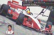 2006 Oriol Servia signed Gulfstream Ford Lola Champ Car postcard