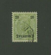 Austria Offices in Turkey 1890 2pi surch. on 20kr, Scott 24 used, Value = $32.50