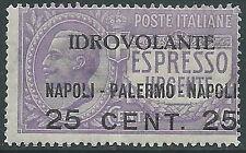 1917 REGNO POSTA AEREA NAPOLI PALERMO MNH ** - E72