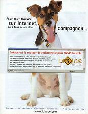 Publicité 1999  LoKace le moteur de recherche le plus rusé du web
