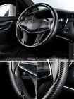 Universal Car Steering Wheel Booster Cover Carbon Fiber Non-slip Accessory Cover