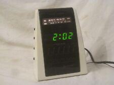 vintage Sharp Clock Radio FX-C24 (W) dual alarm green lcd display *missing knob