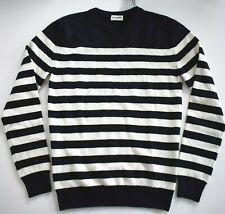 $1150 SAINT LAURENT 100% CASHMERE Striped MARINÈRE SAILOR Crewneck Sweater XS