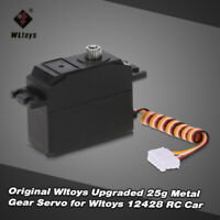 Wltoys Upgraded 25g Metal Gear Servo for Wltoys 12428 RC Car G7Z2