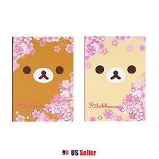 San-X Rilakkuma A4 College Ruled Notebook Note Pad Set of 2 : Cherry Blossoms