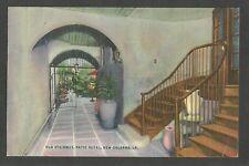 Vintage Postcard - Old Stairway Patio Royal, New Orleans, LA - Posted 1946