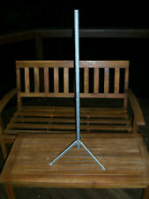 """Nice Htf 34.5"""" Wood Tree Pole Stand For Vtg Aluminum Xmas Trees Parts Only"""