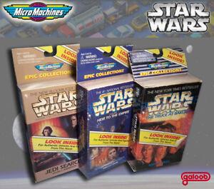 Micro Machines Star Wars Epic Collections I, II, & III 1996 MISB  Set of 3